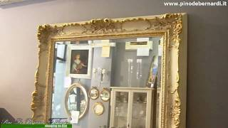 Specchi - specchiera rettangolare avorio e oro - Prodotto venduto