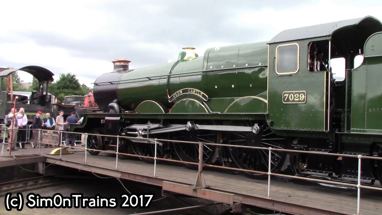 BR Castle Class, 7029 Clun Castle at Tyseley (24th June 2017)