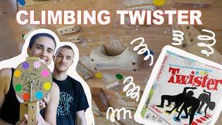 We play climbing Twister!