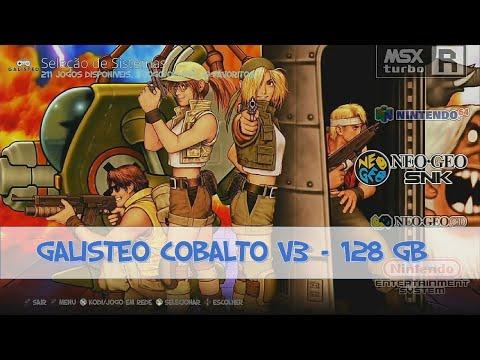 "Galisteo Cobalto V3 128GB - 14.840 Jogos - Rasp Pi3 B/B+ Recalbox 6.1 ""DragonBlaze"""