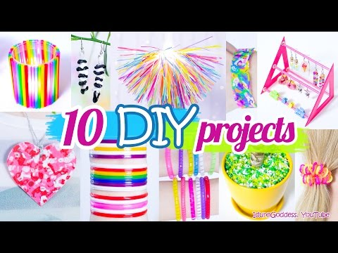 10 New Amazing Drinking Straw Crafts and Life Hacks, crafting with plastic straws