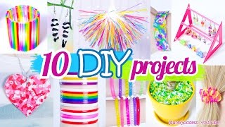 10 DIY Projects With Drinking Straws – 10 New Amazing Drinking Straw Crafts and Life Hacks thumbnail
