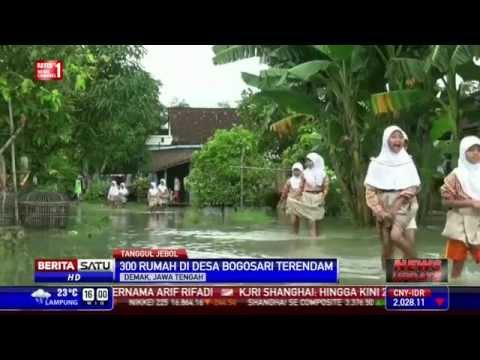 download Tanggul Sungai Jebol, 300 Rumah di Demak Kebanjiran