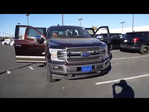 2018 F150 King Ranch Magma Red 10 speed auto FX4 Moonroof 360 camera active park assist - YouTube