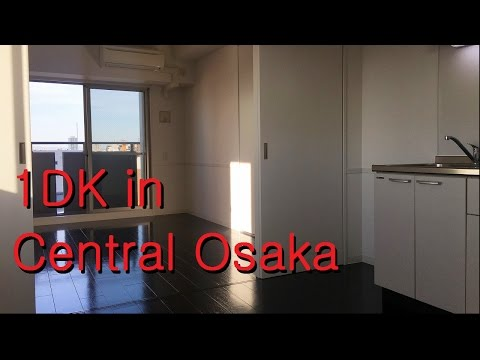 Japanese Apartment Tour: 1DK apartment in Central Osaka (Dog friendly!)