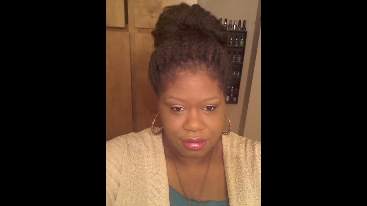 Crochet Hair In A Bun : Crochet Braids: Pattern for Bun/Updo - YouTube