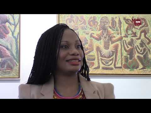 Expo Mwenze Kibwanga Congo Paintings / interview Pierre Loos