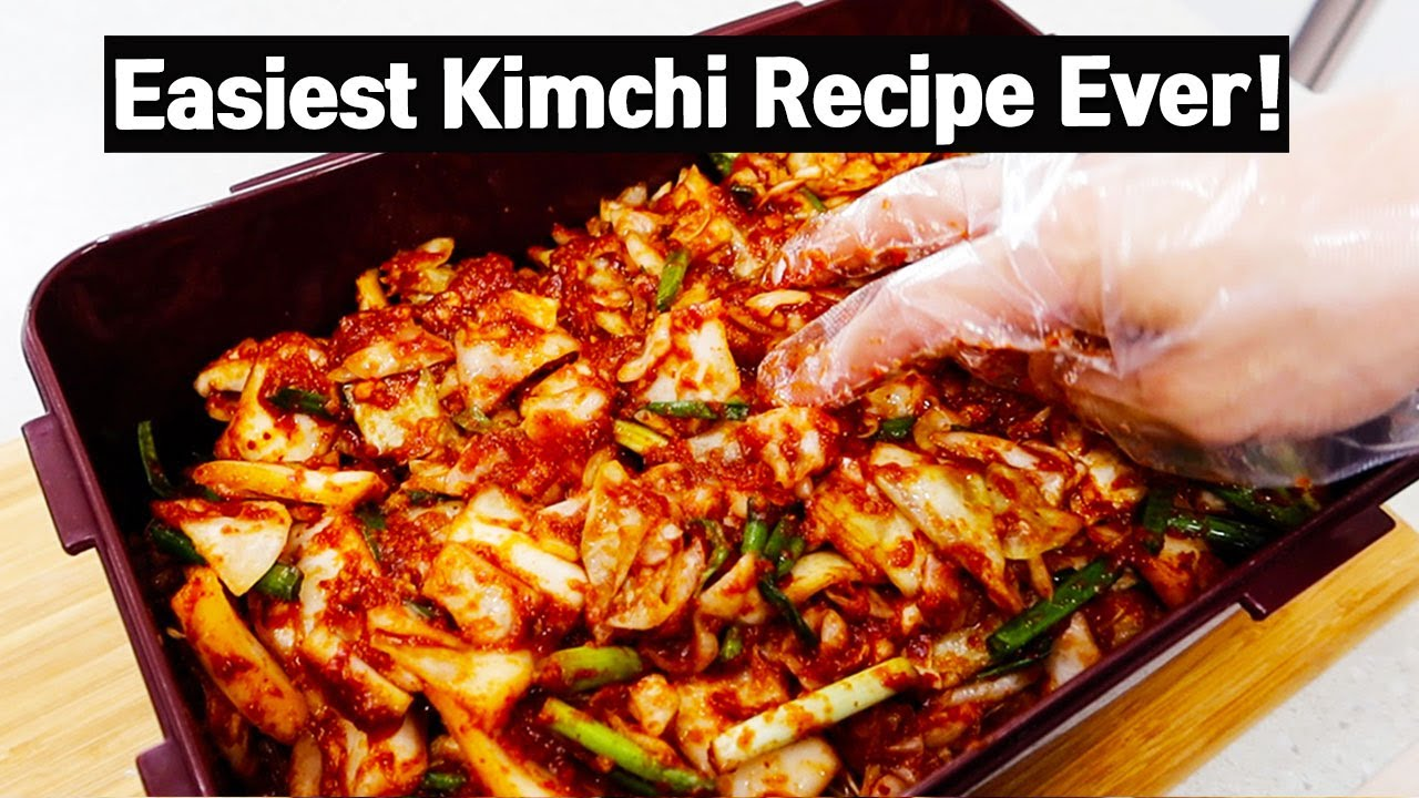 The Easiest Kimchi Ever! Cabbage Kimchi