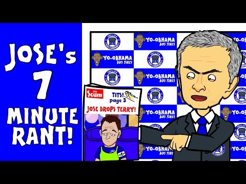 Jose Mourinho's 7 minute rant! (Post-match interview Chelsea 1-3 Southampton 2015 funny cartoon)