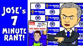 Jose Mourinho's 7 minute rant! (Post-match interview Chelsea 1-3 Southampton 2015 funny cartoon)