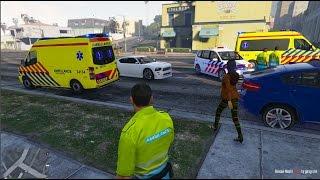 GTA 5 rescue mod - dienst op de ambulance!