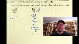 5.2 Multiplying and Dİviding Radical Expressions (Pre-Calculus 20)