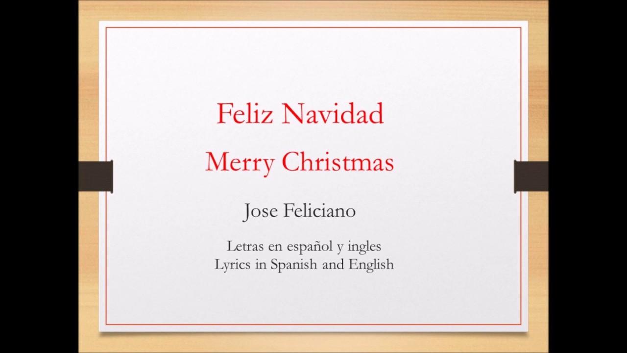 Letra de canciones de navidad en ingles y espanol