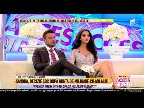 Sandra şi Adrian Mutu, dezvăluiri senzaționale despre nunta lor de la Castel!