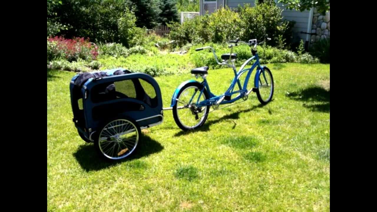 Solvit Houndabout Pet Bicycle Trailer Youtube