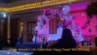 Celebration of Life! Happy Sweet 16th Kate Aaliyah! Happiness & Joy! Birthday Celebration @jwmarriot