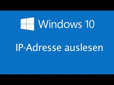 Windows 10 - IPv4 Adresse auslesen