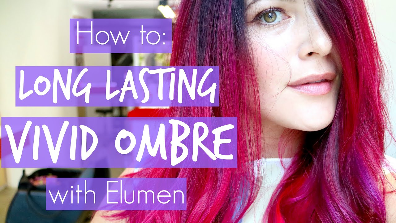 How I Get Long Lasting Vivid Pink Red Ombre On Dark Hair With Elumen