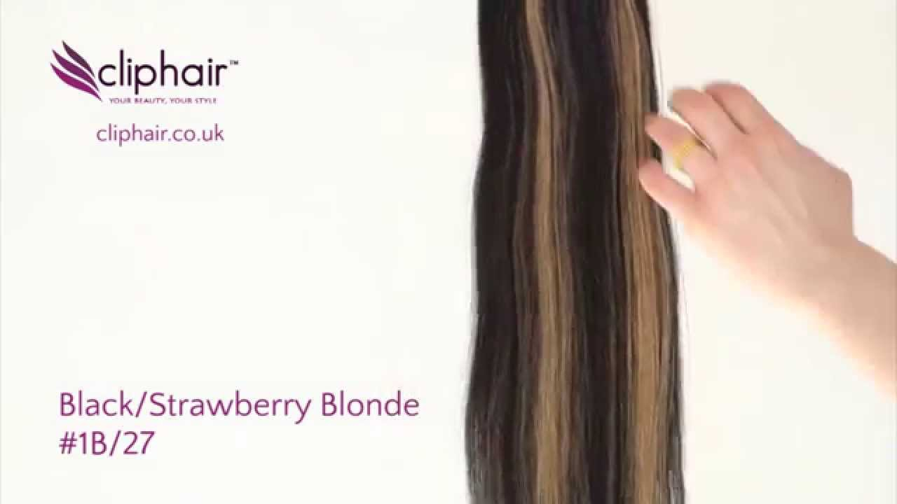 100 Human Hair Extensions From Cliphair Ltd Colour 1b27 Youtube