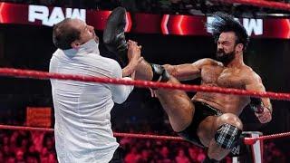 Drew McIntyre vs Braun corben wwe raw August 9 2021