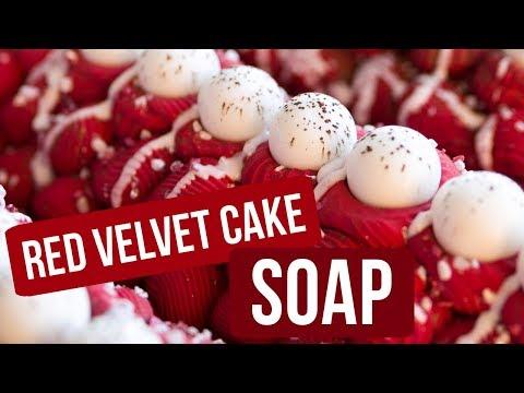 Red Velvet Cake Soap | Royalty Soaps