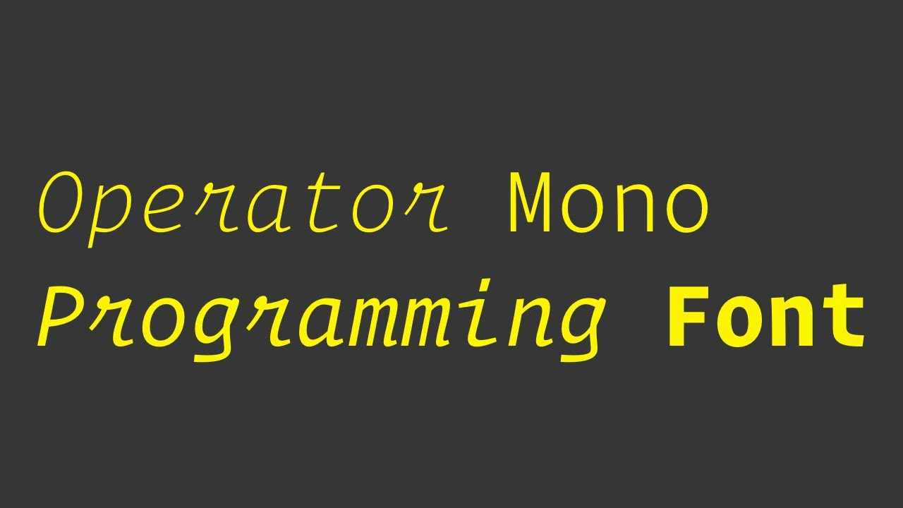 Operator Mono - Programming Font Review