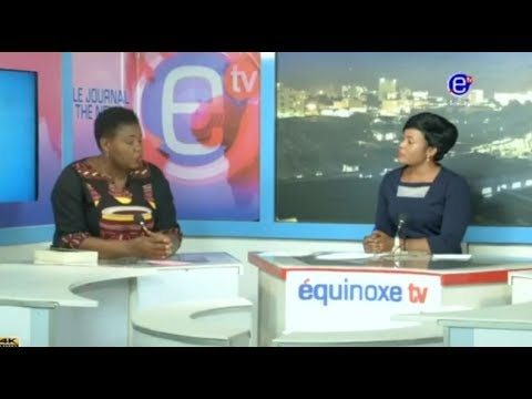 THE 6PM NEWS EQUINOXE TV - Guest: Bertine DOMOU -Stand Up CAMEROON