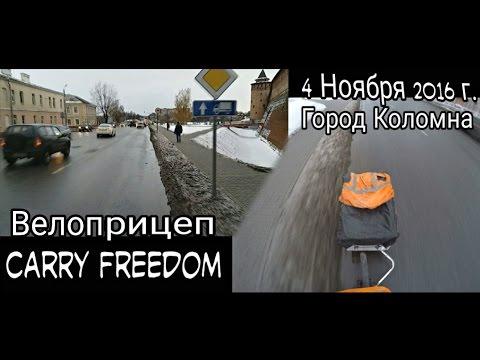 Зимний Велопробег с прицепом Carry Freedom Y-Frame. г. Коломна