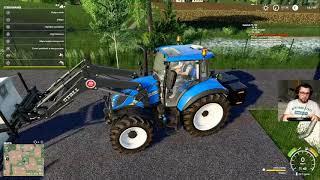SZKOŁA ŁADOWANIA TUREM CZĘŚĆ PIERWSZA  - Ellerbach #3 - Farming Simulator 19   SWIATEK