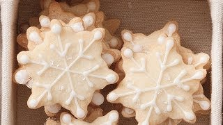 How To Make Snowflake Shortbread Cookies | Cookie Recipe
