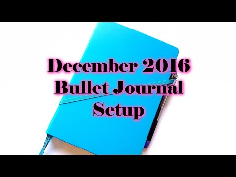 December 2016 Bullet Journal Setup