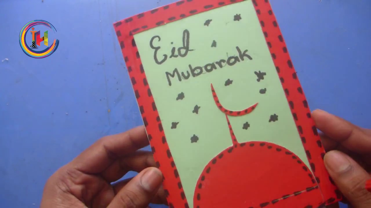Exceptional Eid Cards Making Ideas Part - 13: Diy Eid : How To Make Handmade Eid Card