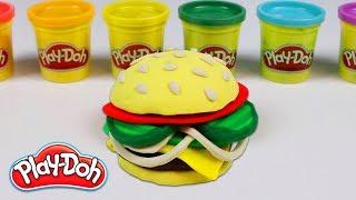 DIY How to Make a Yummy Play Doh Hamburger!