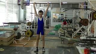 Попов Максим, 12 лет, вк 38 Толчок 22 кг Есть личный РЕКОРД! Новичок