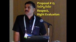 Proposal 15 Respect