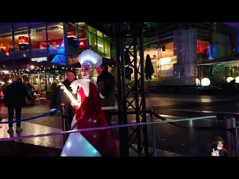 Christmas Market at Sony Center Berlin Potsdamer Platz Рождество в Германии