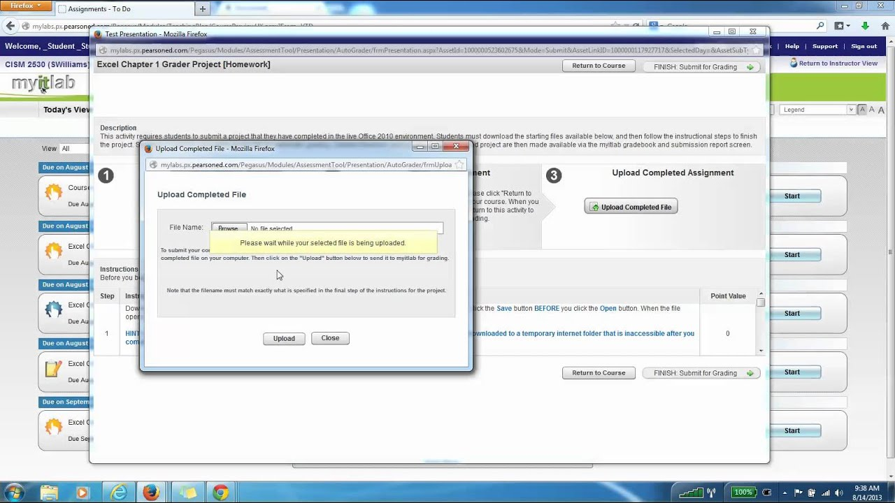 Uploading Completed Project Files to myITLab
