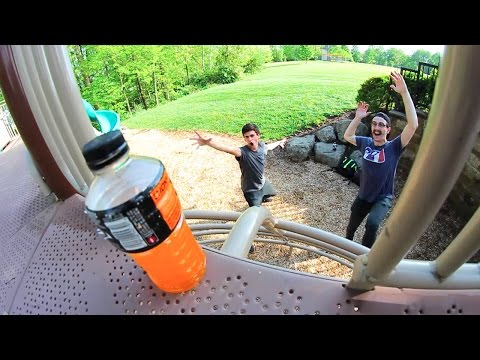 EXTREME PLAYGROUND BOTTLE FLIPPING!