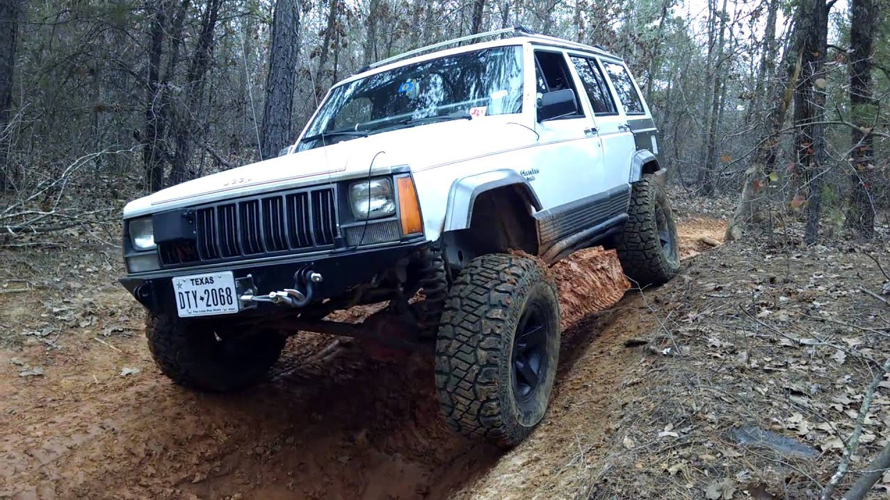 91 Jeep Cherokee Off- Road - YouTube