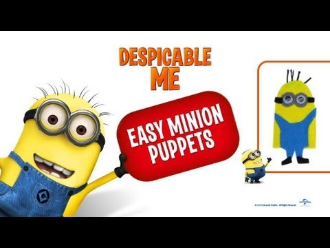 Easy Minion Finger Puppet Craft How To