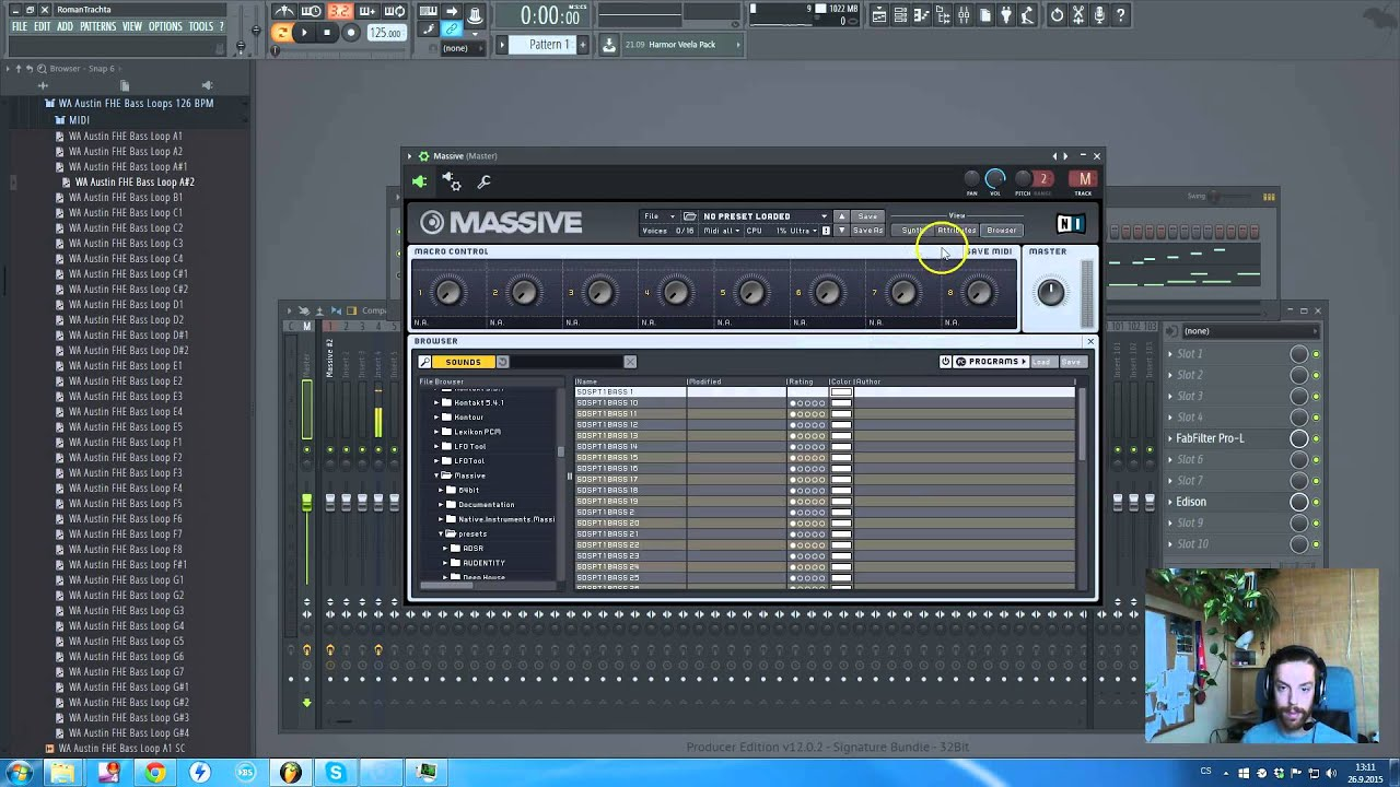 how to add massive to fl studio