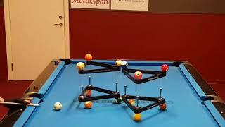 INSANE Pool skill balancing act!