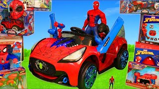 Spiderman Toys: Superhero Surprise Ride on Cars, Toy Vehicles & Playset for Kids