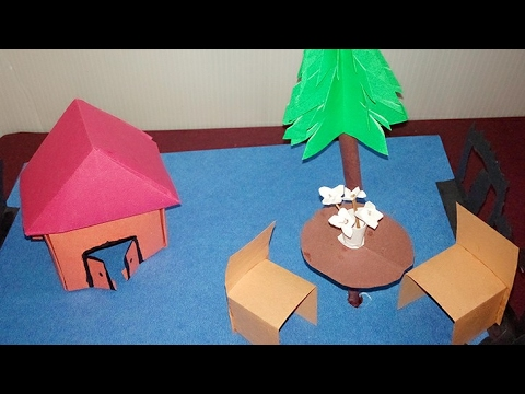 How To Make A Paper House Easy Paper Craft Project Youtube