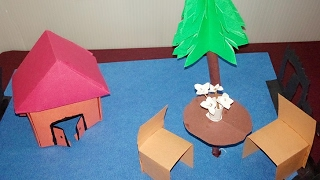 How to make a paper house: easy paper craft project