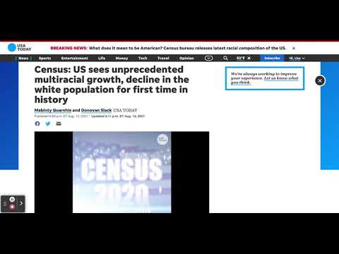 2020 US Census Reveals A Declining Whte-Population and Growth Among All Other Groups