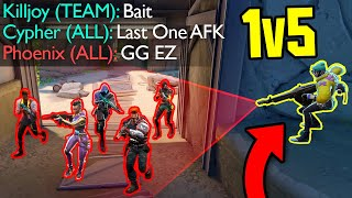 These 1v5 Comebacks Wİll BLOW YOUR MIND...