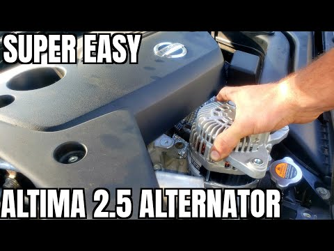 2013 2018 Nissan Altima Alternator Replace How to 2014 2015 2016 2017