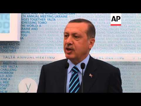 Erdogan news conference after meeting with Yanukovich