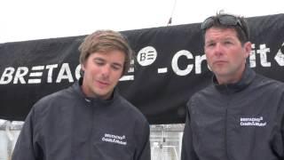 Sébastien et Nicolas sur le Tour de Bretagne